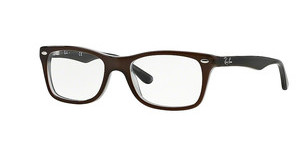 Ray-Ban RX5228 5076 TOP BROWN ON OPAL AZURE
