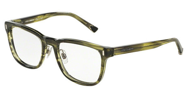 Dolce & Gabbana DG3241 2926 STRIPED OLIVE GREEN