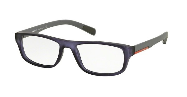 Prada Sport PS 06GV UFJ1O1 TRANSPARENT BLUE RUBBER
