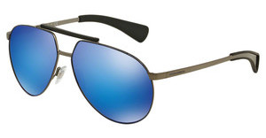 Dolce & Gabbana DG2152 110825 GREEN MIRROR LIGHT BLUEMATTE GUNMETAL/MATTE BLUE