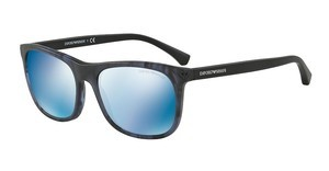 Emporio Armani EA4056 554955 DARK BLUE MIRROR BLUEMATTE STRIPED BLUE