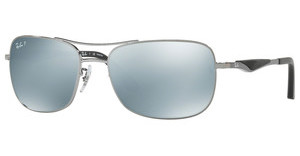 Ray-Ban RB3515 004/Y4 GREEN MIRROR SILVER POLARGUNMETAL