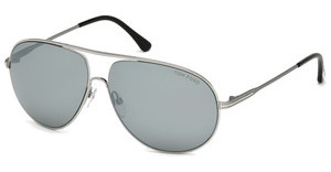 Tom Ford FT0450 14C grau verspiegeltruthenium hell glanz