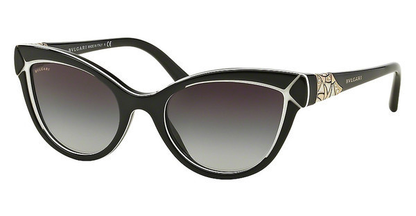 Bvlgari BV8156B 53878G GREY GRADIENTBLACK/WHITE/BLACK