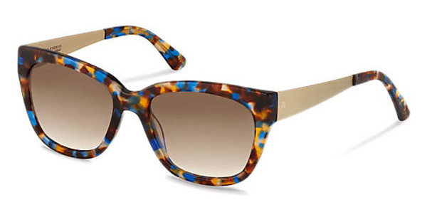 Claudia Schiffer C3009 B sun protect brown gradient - 77%blue brown havana/light gold