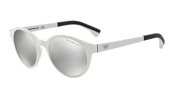 Emporio Armani EA4045 53446G LIGHT GREY MIRROR SILVERMATTE WHITE