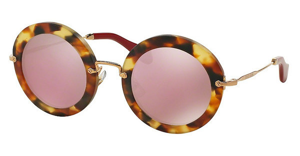 Miu Miu MU 13NS UA54M2 PINK MIRROR GOLDSAND LIGHT HAVANA