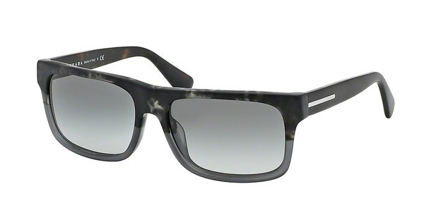 Prada PR 18PS RO32D0 LIGHT GREY GRAD DARK GREYSPOTTED BLACK/MATTE GREY