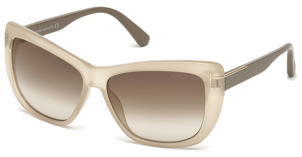 Tom Ford FT0434 57G braun verspiegeltbeige glanz